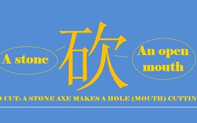 Chinese character 砍 kǎn – cut