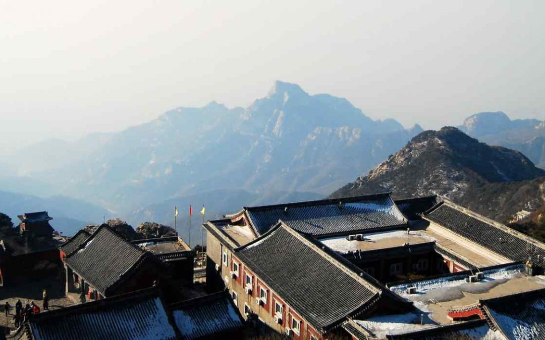 The sacred Taishan mountain